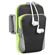 Universal Gym Sport Running Jog Arm Band Strap Case B22 for Alcatel 3X Black