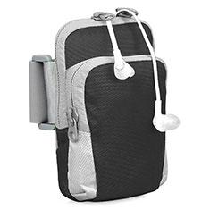 Universal Gym Sport Running Jog Arm Band Strap Case B24 for Alcatel 3X Black