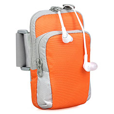 Universal Gym Sport Running Jog Arm Band Strap Case B24 Orange