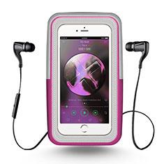 Universal Gym Sport Running Jog Arm Band Strap Case B26 for Alcatel 3X Pink