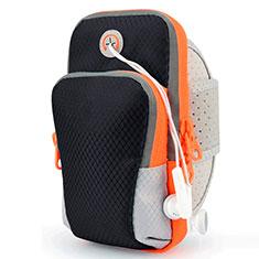 Universal Gym Sport Running Jog Arm Band Strap Case Diamond B18 for Alcatel 3X Black