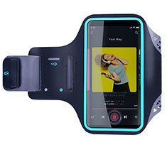 Universal Gym Sport Running Jog Arm Band Strap Case G03 for Alcatel 7 Black