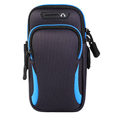 Universal Gym Sport Running Jog Arm Band Strap Case L01 for Alcatel 3X Blue
