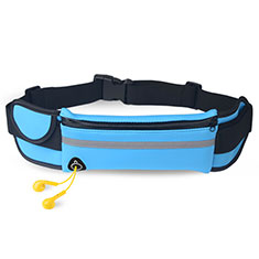 Universal Gym Sport Running Jog Belt Loop Strap Case B31 Sky Blue