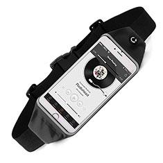 Universal Gym Sport Running Jog Belt Loop Strap Case for Alcatel 3X Black