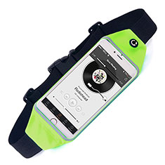 Universal Gym Sport Running Jog Belt Loop Strap Case for Alcatel 3X Green