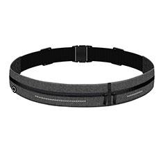 Universal Gym Sport Running Jog Belt Loop Strap Case L04 Dark Gray