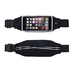 Universal Gym Sport Running Jog Belt Loop Strap Case L10 Black