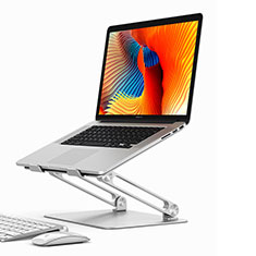 Universal Laptop Stand Notebook Holder K02 for Samsung Galaxy Book Flex 15.6 NP950QCG Silver