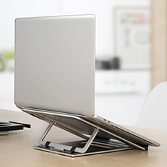 Universal Laptop Stand Notebook Holder K04 for Samsung Galaxy Book Flex 15.6 NP950QCG Silver