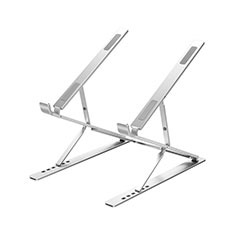Universal Laptop Stand Notebook Holder K09 for Samsung Galaxy Book Flex 15.6 NP950QCG Silver