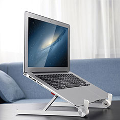 Universal Laptop Stand Notebook Holder K13 for Samsung Galaxy Book Flex 15.6 NP950QCG Silver