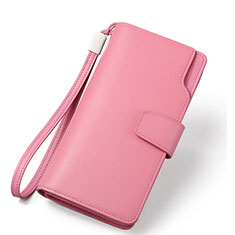 Universal Leather Wristlet Wallet Handbag Case H38 Pink