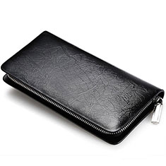 Universal Leather Wristlet Wallet Handbag Case H39 Black