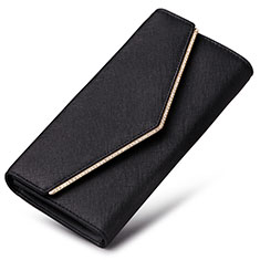Universal Leather Wristlet Wallet Handbag Case K03 Black