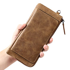 Universal Leather Wristlet Wallet Handbag Case K04 Brown