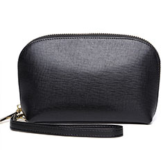 Universal Leather Wristlet Wallet Handbag Case K08 Black