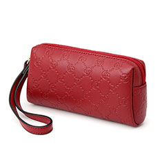 Universal Leather Wristlet Wallet Handbag Case K11 Red