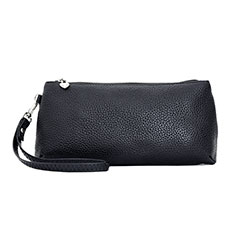 Universal Leather Wristlet Wallet Handbag Case K12 Black