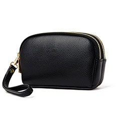 Universal Leather Wristlet Wallet Handbag Case K16 Black