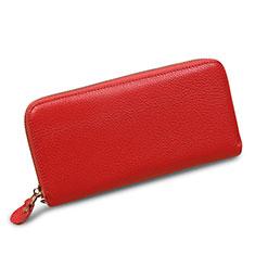Universal Lichee Pattern Leather Wristlet Wallet Handbag Case H28 for Apple iPhone 12 Pink