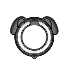Universal Mobile Phone Magnetic Finger Ring Stand Holder H15 Black