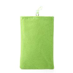 Universal Sleeve Velvet Bag Case Pocket for Alcatel 3L Green