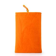 Universal Sleeve Velvet Bag Case Pocket for Alcatel 3L Orange