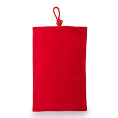 Universal Sleeve Velvet Bag Case Pocket for Alcatel 3L Red