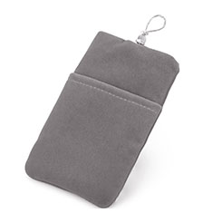 Universal Sleeve Velvet Bag Case Tow Pocket Gray