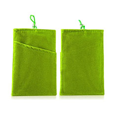 Universal Sleeve Velvet Bag Cover Tow Pocket for Alcatel 3L Green