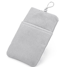 Universal Sleeve Velvet Bag Pouch Tow Pocket Silver