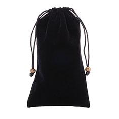 Universal Sleeve Velvet Bag Slip Case for Alcatel 3L Black