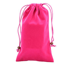 Universal Sleeve Velvet Bag Slip Case for Alcatel 3L Hot Pink