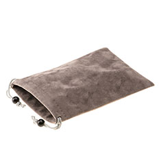 Universal Sleeve Velvet Bag Slip Case S05 Brown