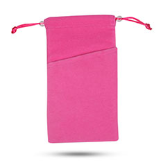 Universal Sleeve Velvet Bag Slip Case Tow Pocket Hot Pink