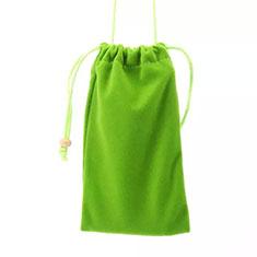 Universal Sleeve Velvet Bag Slip Cover for Alcatel 3L Green