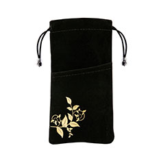 Universal Sleeve Velvet Bag Slip Cover K01 Black