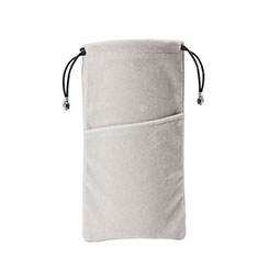 Universal Sleeve Velvet Bag Slip Cover K02 Gray