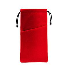 Universal Sleeve Velvet Bag Slip Cover K02 for Alcatel 3L Red