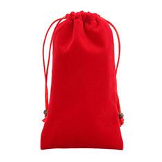 Universal Sleeve Velvet Bag Slip Cover for Alcatel 3L Red