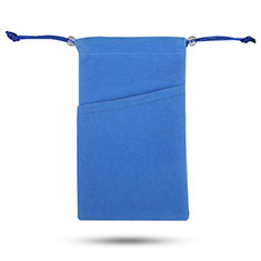 Universal Sleeve Velvet Bag Slip Cover Tow Pocket Blue