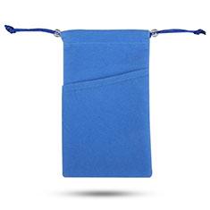 Universal Sleeve Velvet Bag Slip Cover Tow Pocket for Alcatel 3L Blue