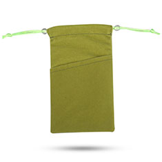 Universal Sleeve Velvet Bag Slip Cover Tow Pocket for Alcatel 3L Green