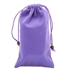 Universal Sleeve Velvet Bag Slip Pouch for Alcatel 3L Purple