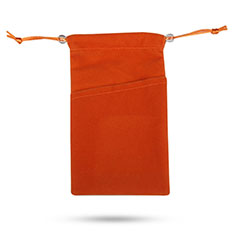 Universal Sleeve Velvet Bag Slip Pouch Tow Pocket Orange