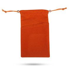 Universal Sleeve Velvet Bag Slip Pouch Tow Pocket for Alcatel 3L Orange