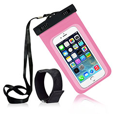 Universal Waterproof Case Dry Bag Underwater Shell W04 for Alcatel 3 2019 Pink
