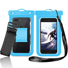 Universal Waterproof Cover Dry Bag Underwater Pouch W05 for Alcatel 3 2019 Blue