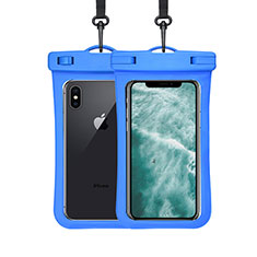 Universal Waterproof Cover Dry Bag Underwater Pouch W07 for Alcatel 3 2019 Blue